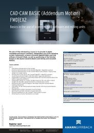 CAD-CAM BASIC (Addendum Motion) FMD|EX2 - AmannGirrbach AG