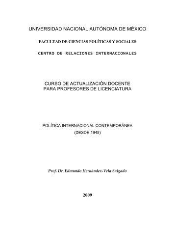 Política Internacional Contemporánea - Centro de Investigación e ...