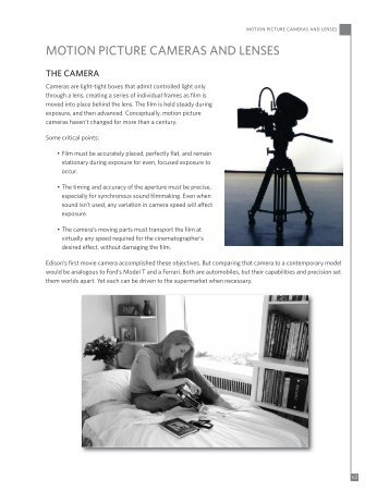 MOTION PICTURE CAMERAS AND LENSES - Kodak