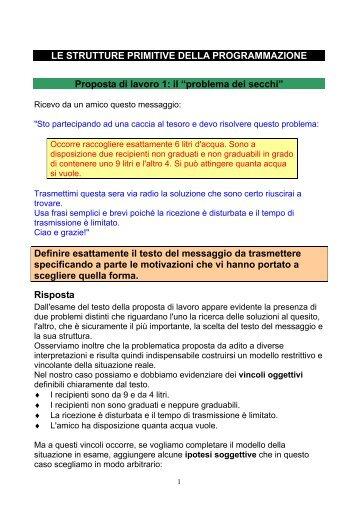 LE STRUTTURE PRIMITIVE DELLA ... - ITIS E. Divini
