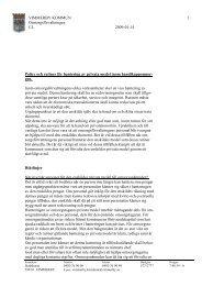 Policy och rutiner för hantering av privata medel inom omsorgen om ...