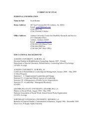 vita - College of Education - Auburn University