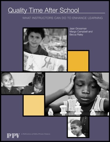 Quality Time.pdf - Statewide Afterschool Networks