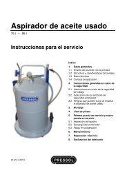 Aspirador de aceite usado - Pressol