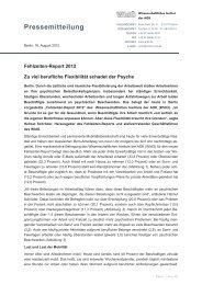 PM-WIdO-Fehlzeiten-Report 2012 - Institut für Betriebliche ...
