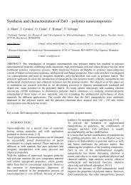 Synthesis and characterization of zno - polymer nanocomposites