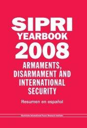 SIPRI Yearbook 2008, Resumen en español