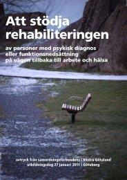Att stödja rehabiliteringen - Samverkan i Västra Götaland-Startsida