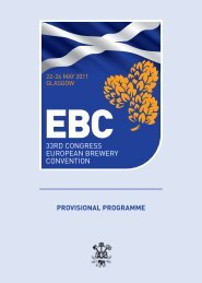 PROVISIONAL PROGRAMME - 33rd European Brewery Convention ...
