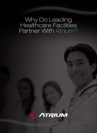 Why Do Leading Healthcare Facilities Partner With Atrium?