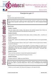 exemple de sujet n°1 - Ministère de l'Éducation nationale