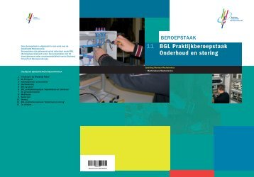 11 BGL Praktijkberoepstaak Onderhoud en storing - Induteq