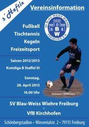 2 - SV Blau-Weiss-Wiehre Freiburg eV
