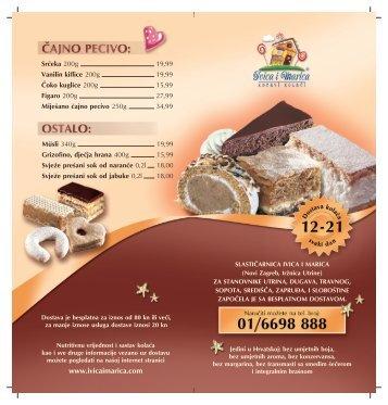 letak za dostavu kolaca con - Ivica i Marica