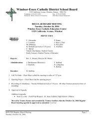 MINUTES October 26 04 Board Meeting - Windsor-Essex Catholic ...