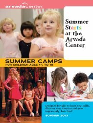 Summer Camps 2013 - Arvada