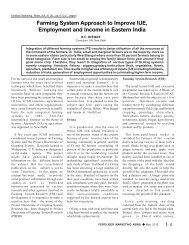 Farming System Approach to Improve IUE, Employment and Income ...