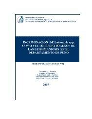INCRIMINACION DE Lutzomyia spp. COMO VECTOR DE ...