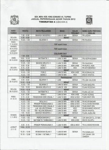 15.10.2012 10.00 ;1.00 I a - SMK King Edward VII