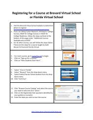 Registering for a Course at Brevard Virtual School or Florida Virtual ...