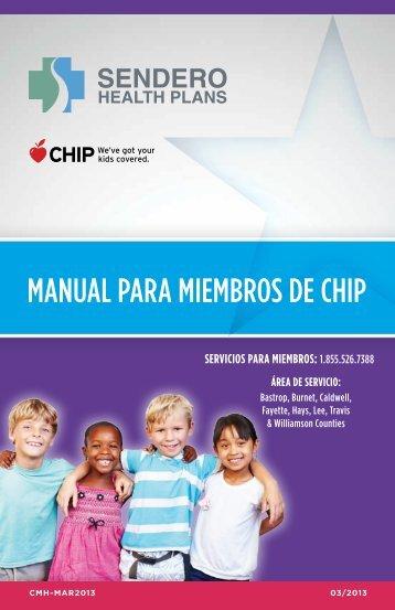 MANUAL PARA MIEMBROS DE CHIP - Sendero Health Plans