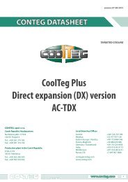 CoolTeg Plus Direct expansion (DX) version AC-TDX - Conteg