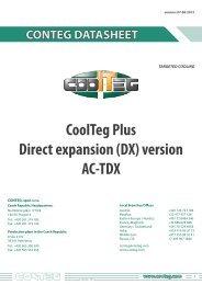 CoolTeg Plus Direct expansion (DX) version AC-TDX - Conteg