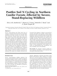 Post-fire soil N cycling in northern conifer forests ... - ResearchGate