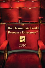 The Dramatists Guild Resource Directory™ 2010 - Focus Publishing