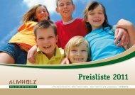 Preisliste 2011 - ALMHOLZ