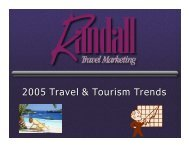 2005 Travel & Tourism Trends - Randall Travel Marketing