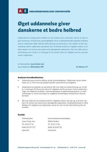 Øget uddannelse giver danskerne et bedre helbred