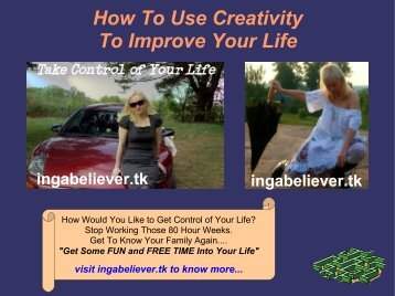 How To Use Creativity To Improve Your Life - Instant Bonus Page