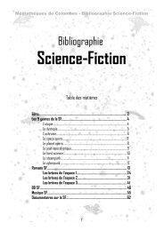 Bibliographie sf - Médiathèques de Colombes