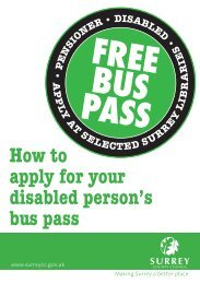 How to apply for your disabled person's bus pass - Surrey County ...