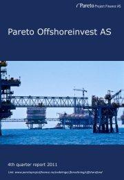 Pareto Offshoreinvest AS - Pareto Project Finance