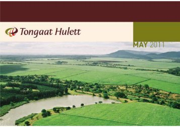 Roadshow Presentation May 2011 [PDF - 2.1MB] - Tongaat Hulett