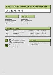 Einsteck-Riegelschlösser für Rohrrahmentüren 48 / 40 PZ ... - Market