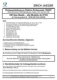 Einbauanleitung zu Elektro-Einbausatz 749057 VW New Beetle - MVG