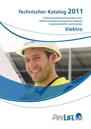 Elektro Technischer Katalog 2011 - Pipelife Deutschland