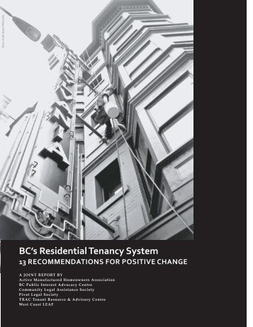 BC's Residential Tenancy System