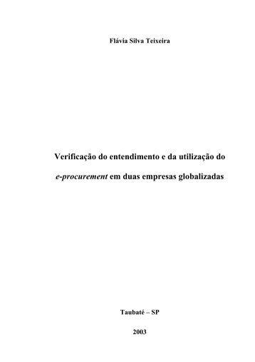 Verificação do entendimento e da utilização do e ... - Ppga.com.br
