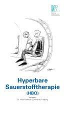 Hyperbare Sauerstofftherapie (HBO)