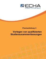 Vorlegen von qualifizierten ... - ECHA - Europa