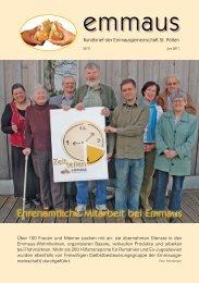 Rundbrief Ausgabe 2/2011 - Emmausgemeinschaft St. Pölten