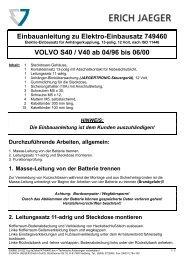 Einbauanleitung zu Elektro-Einbausatz 749460 VOLVO ... - Motor-Talk