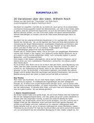 20 Variationen über den Vater, Wilhelm Reich – Szenen aus Peter ...