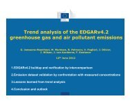 Trend analysis of the EDGARv4.2 greenhouse gas and air pollutant ...