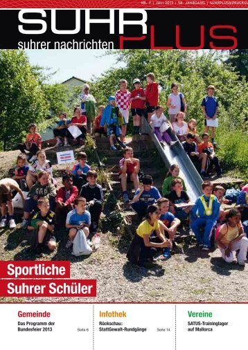 Sportliche Suhrer Schüler - Druckerei AG Suhr