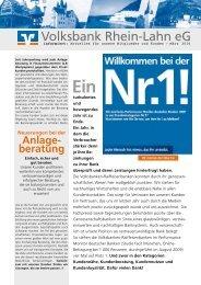 Voba informiert 03/2010 - Volksbank Rhein-Lahn eG